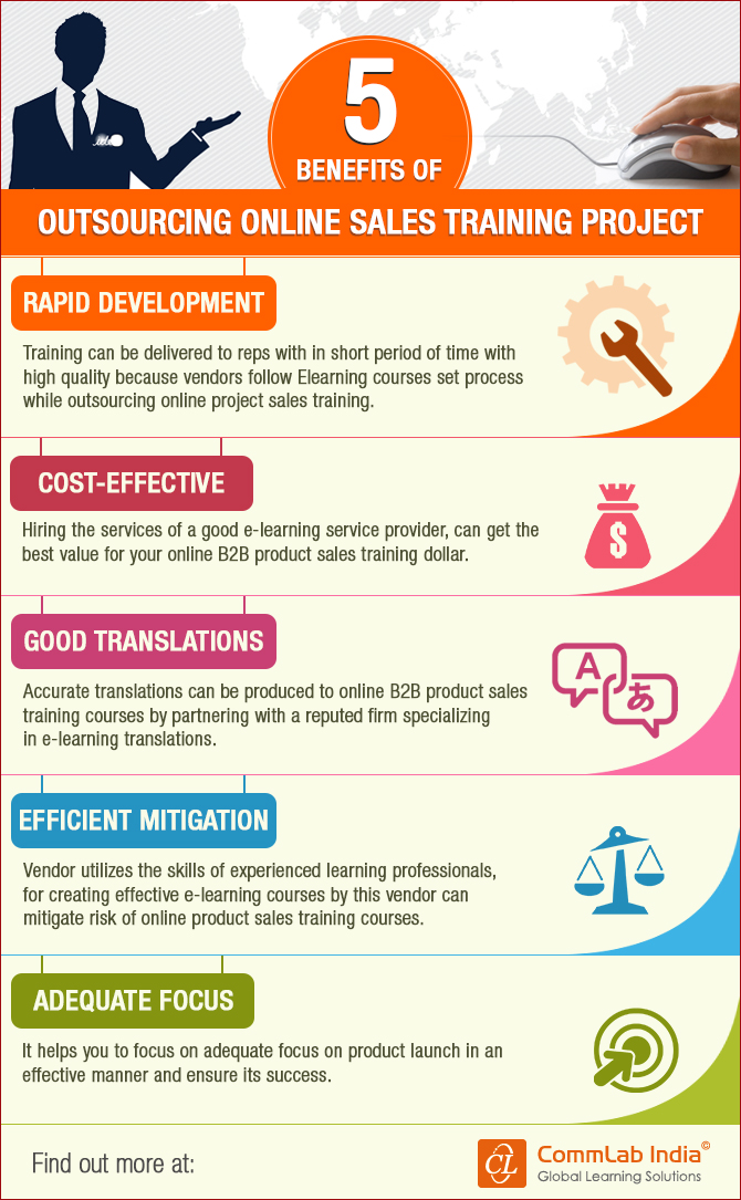 5 Benefits Of Outsourcing Online Sales Training Project [Infographic]