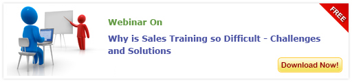 Access our free webinar on 'Why is Sales Training so Difficult - Challenges and Solutions'