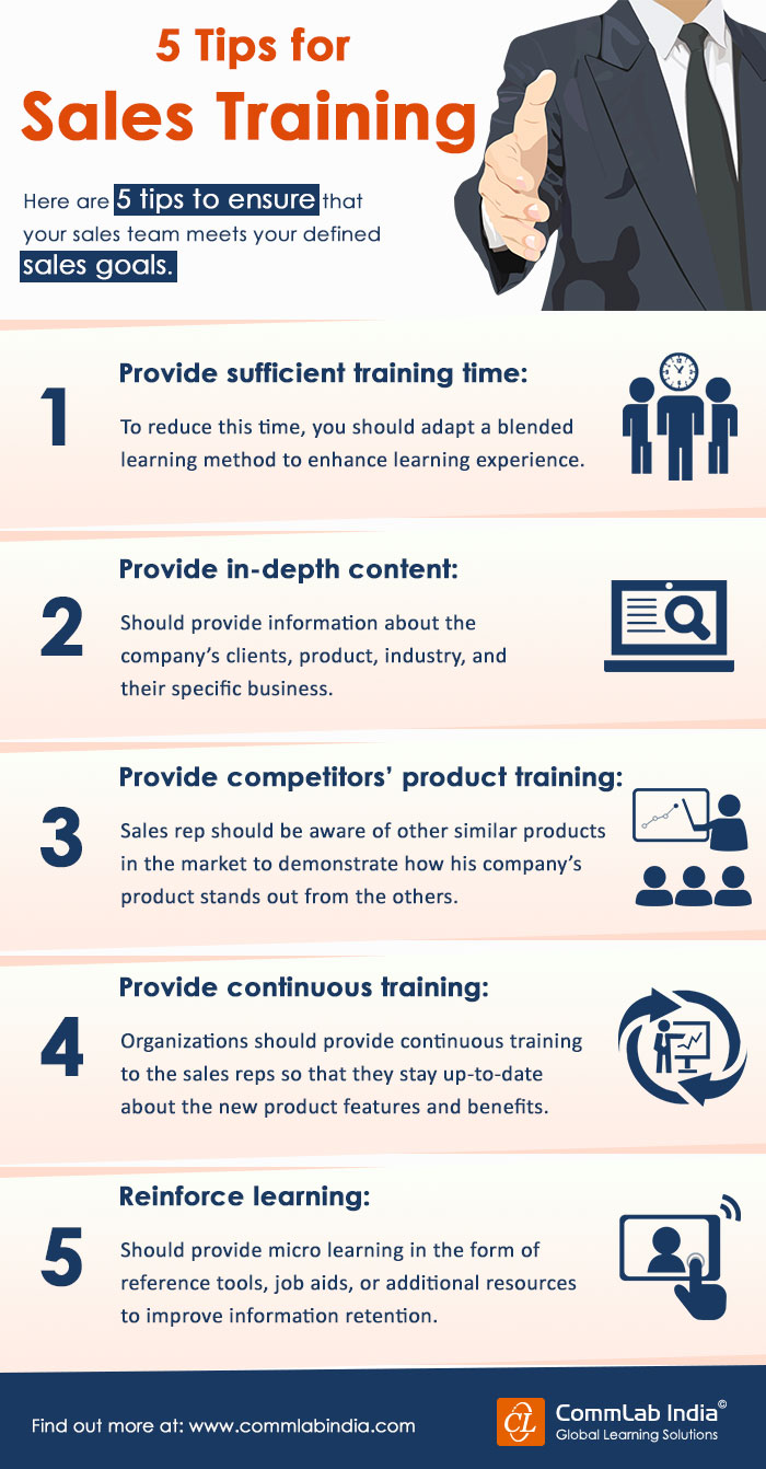 5 Tips For Sales Training [Infographic]