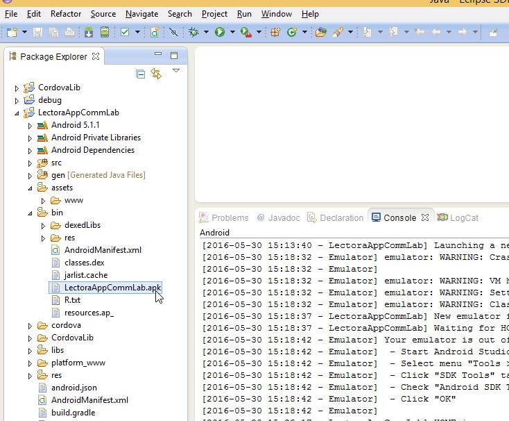 Take the. APK file from the bin folder