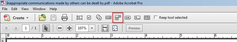 We can also add dropdown menus in Adobe Acrobat Pro