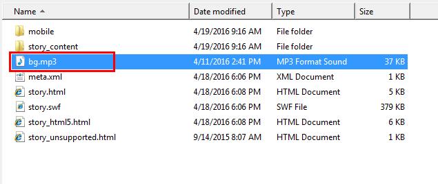 Add audio files to the publish folder