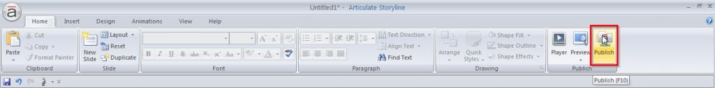 Go to publish tab