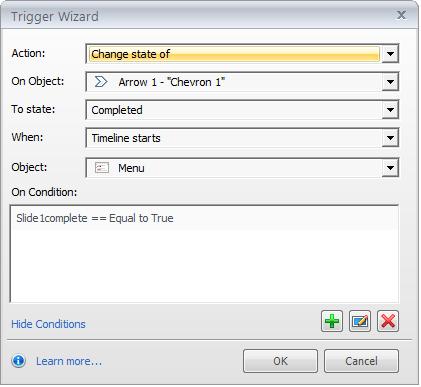 Step 8 - Adjust the Slide1complete variable