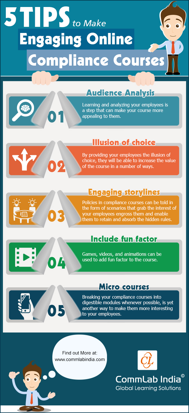 5 Tips To Make Engaging Online Compliance Courses [Infographic]