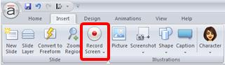 Record Screen Feature