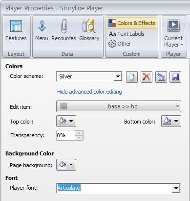 Advance color editing