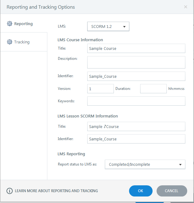 Click on reporting and tracking