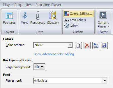 Colors and effects tab