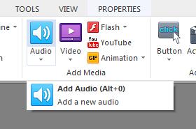 Insert audio files