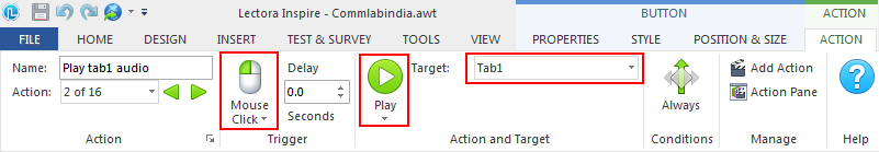 On Mouse Click- Play tab1