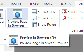 Preview the slide to check the functionality