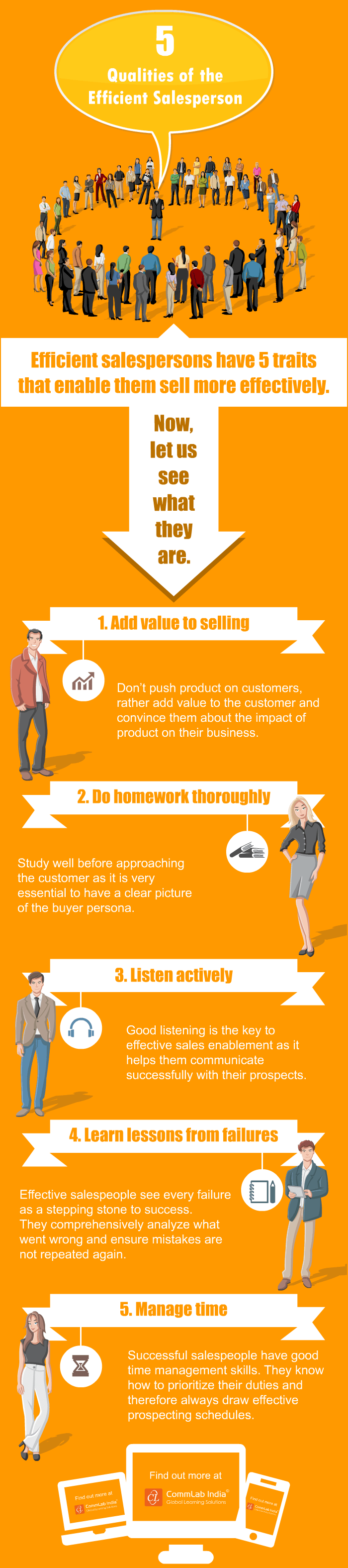 5 Qualities of an Efficient Salesperson [Infographic]
