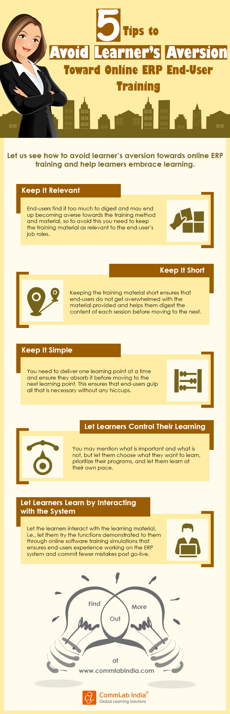 5 Tips to Avoid ERP End-user Training Learner Aversion [Infographic]