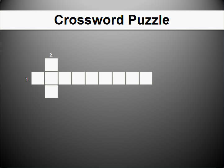 Crossword Table