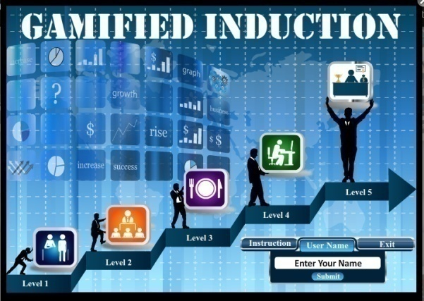 Induction Training Using Personalized Gamification