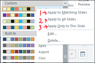 Options to assign color themes
