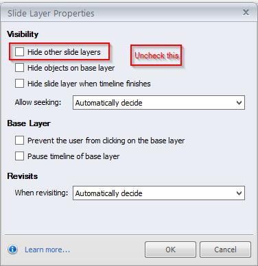 Slidelayer properties