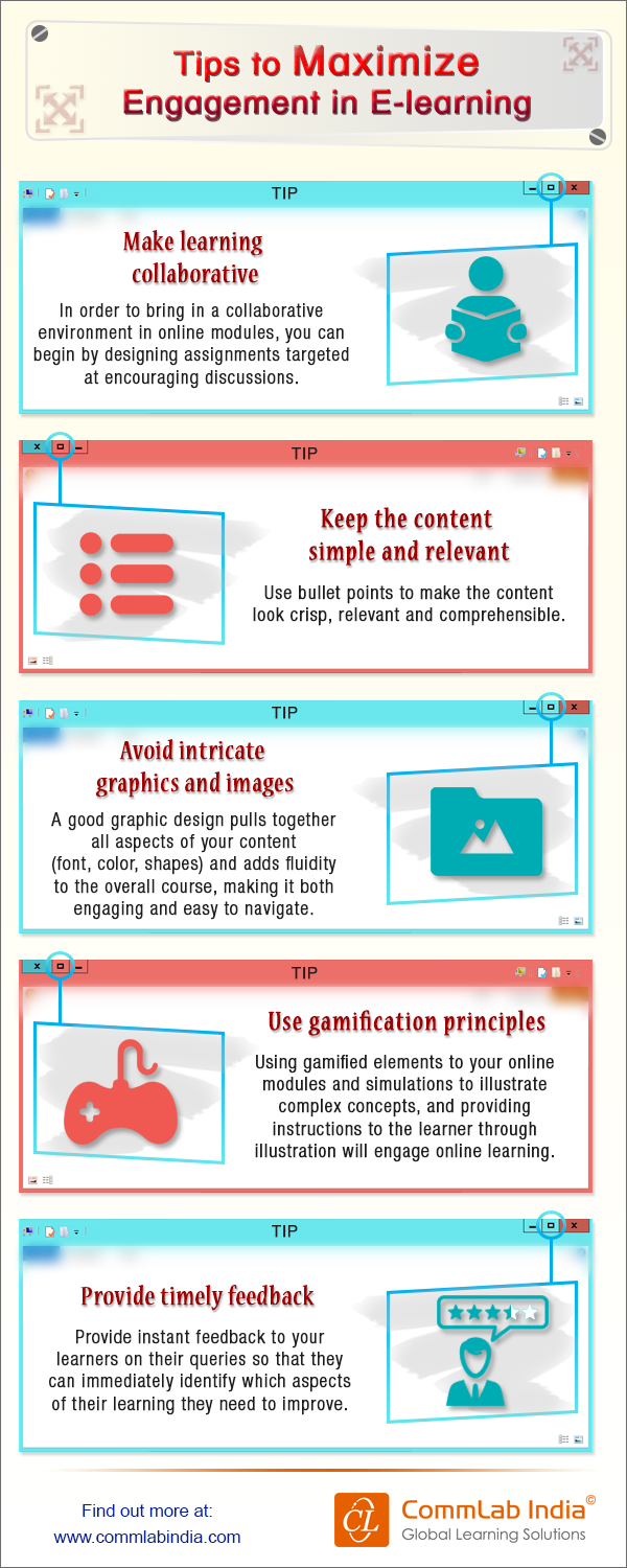 Tips to Maximize Engagement in E-learning [Infographic]