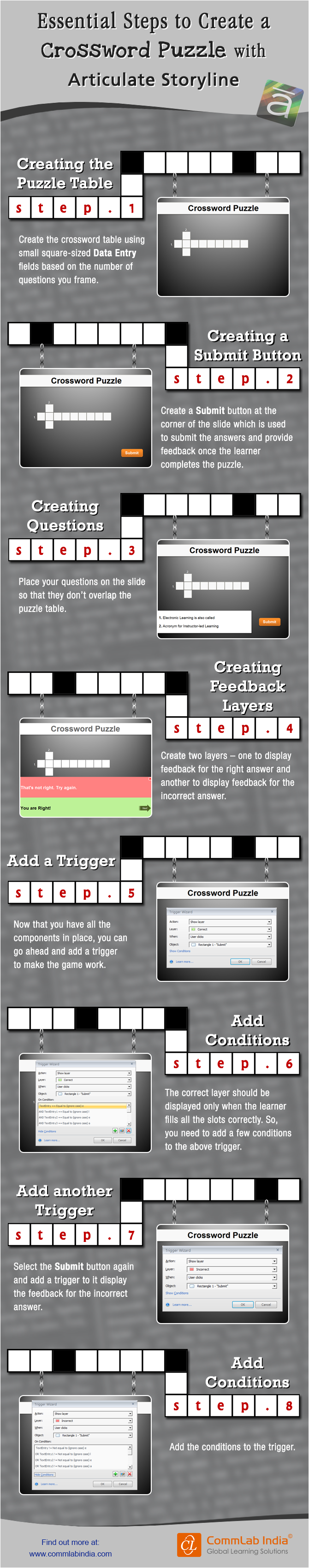 Steps to Create a Crossword Puzzle in Articulate Storyline [Infographic]