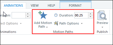Apply two motion path animations