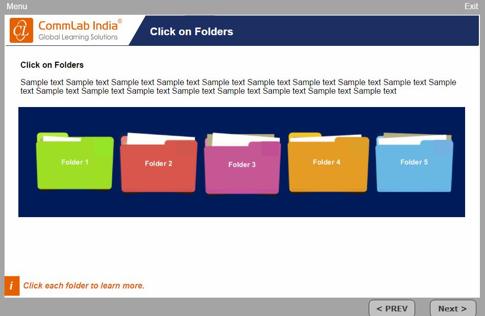Click on Folders