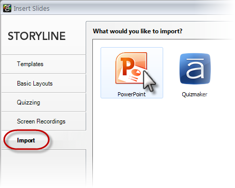 Importing Powerpoint