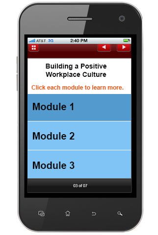 Mobile learning modules
