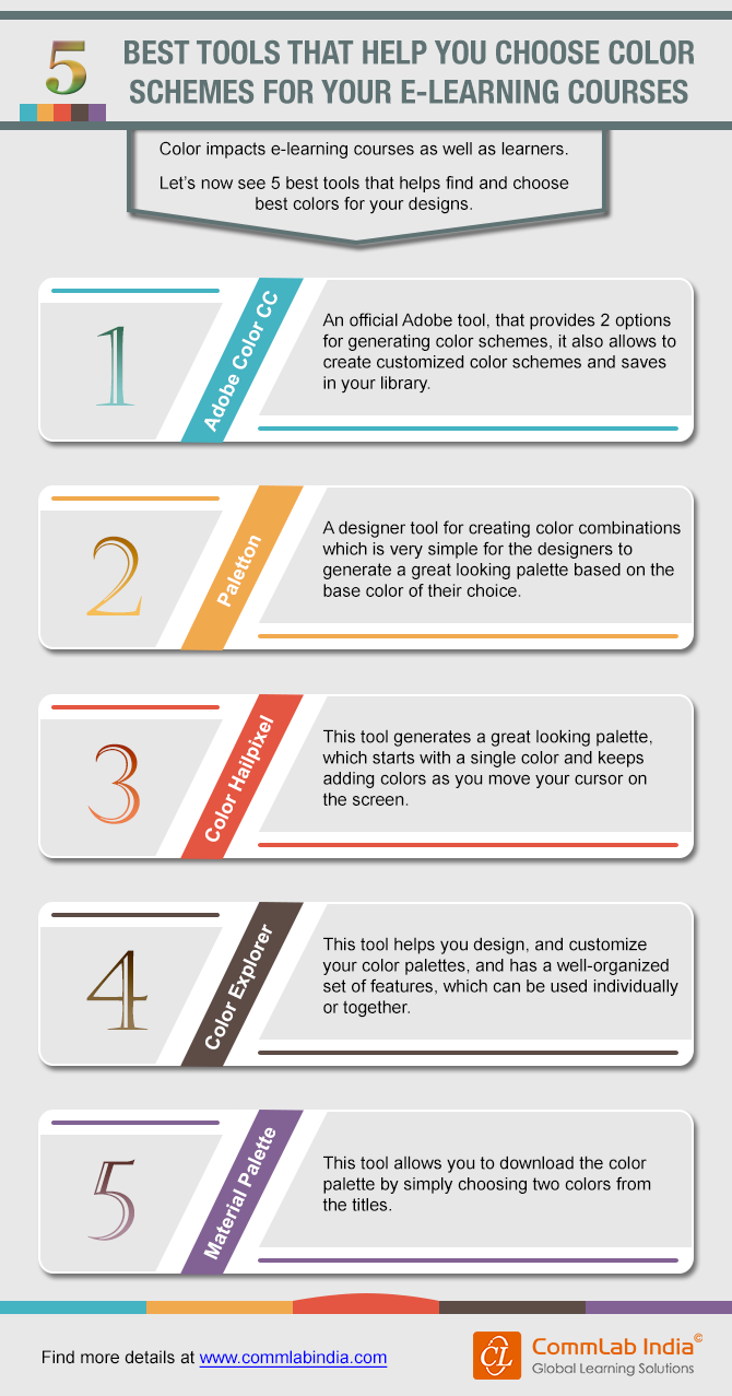 5 Best Tools That Help You Choose Color Schemes for Your E-learning Courses [Infographic]