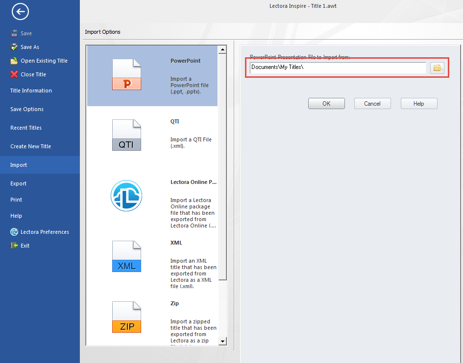 Browse PowerPoint document
