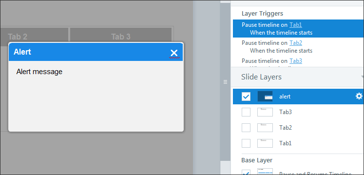 Create a slide layer name alert