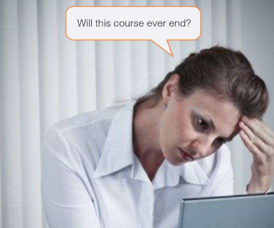 Deliver lengthy e-learning courses