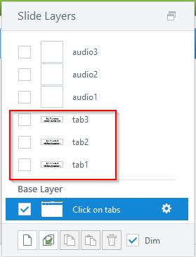 Create three layers