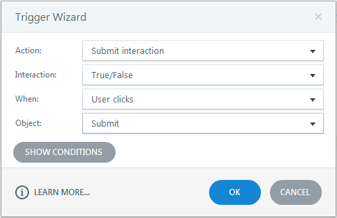 Delete the trigger submit interaction