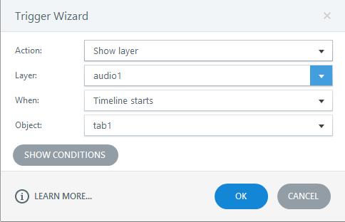Insert audio to tab1