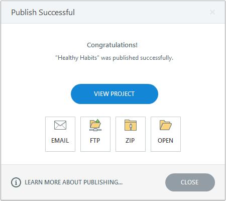 Click the publish button