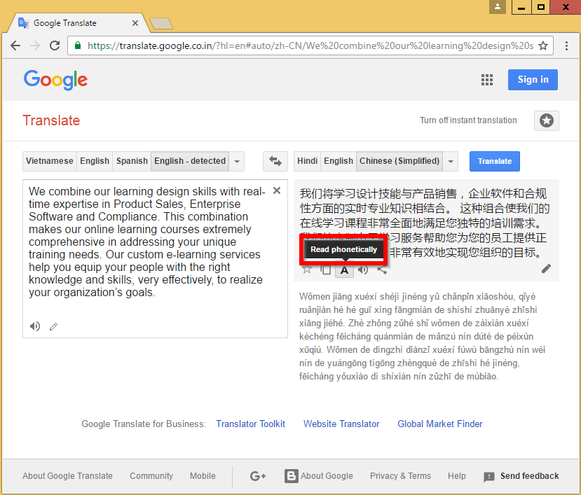 Use Google Translate