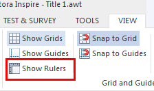 show rulers
