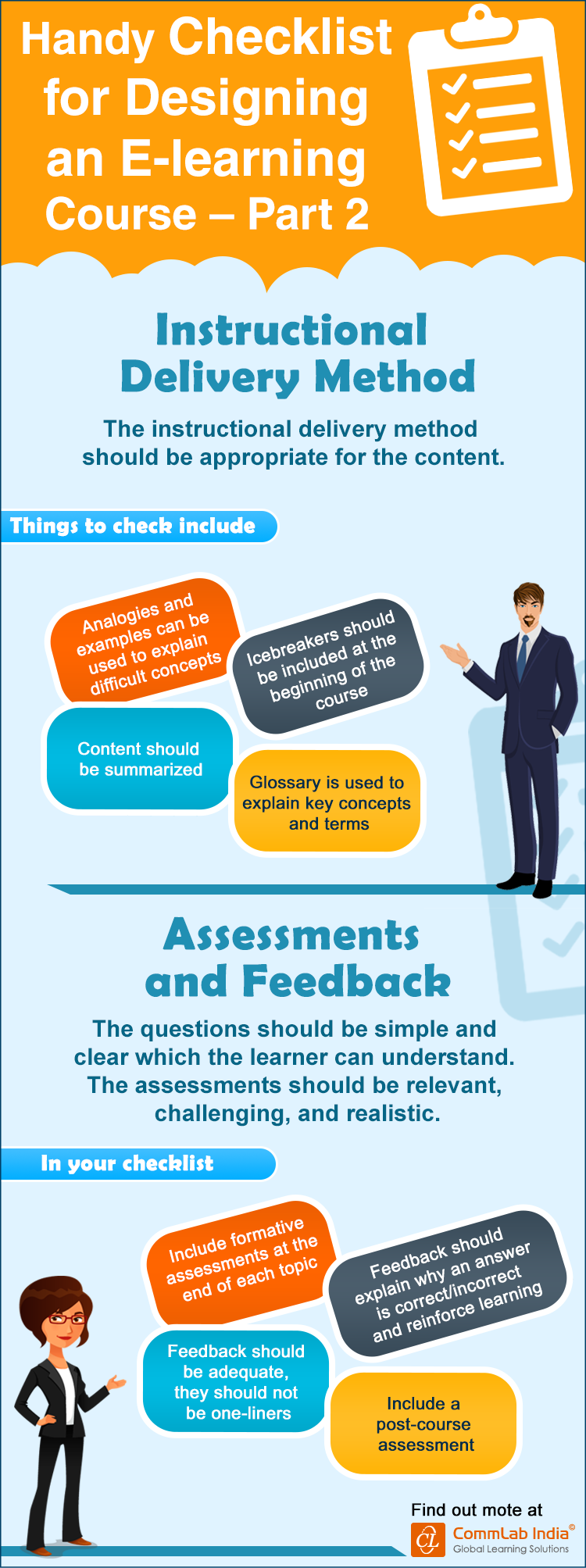 A Handy Checklist for Designing an E-learning Course - Part 2 [Infographic]