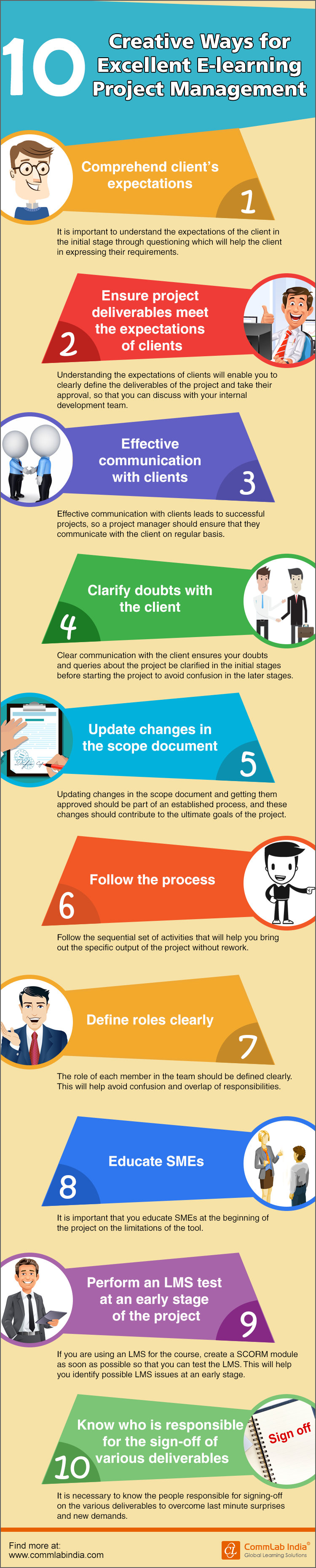 10 Creative Ways for Excellent E-learning Project Management [Infographic]