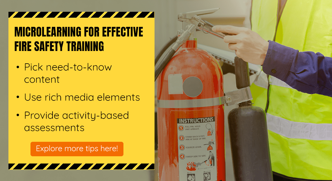 Microlearning for Effective Fire Safety Training: 5 Tips to Remember