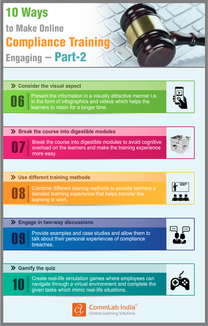 Second 5 Ways to Make Online Compliance Training Engaging [Infographic]