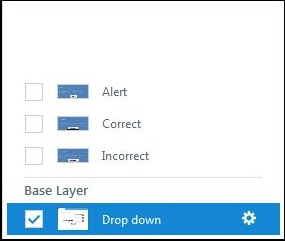 Create correct incorrect and alert layers