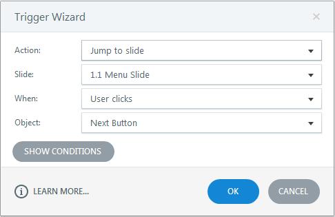 Jump to the menu slide
