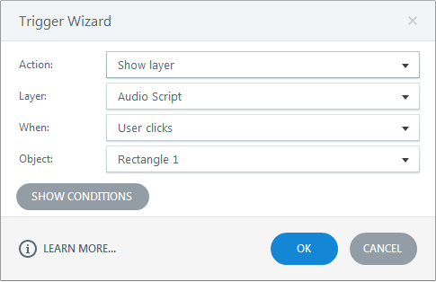Show layer audio script