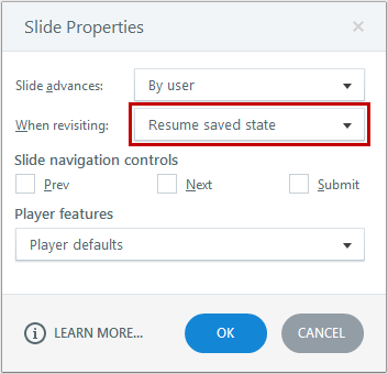 Change the revisiting property to resume
