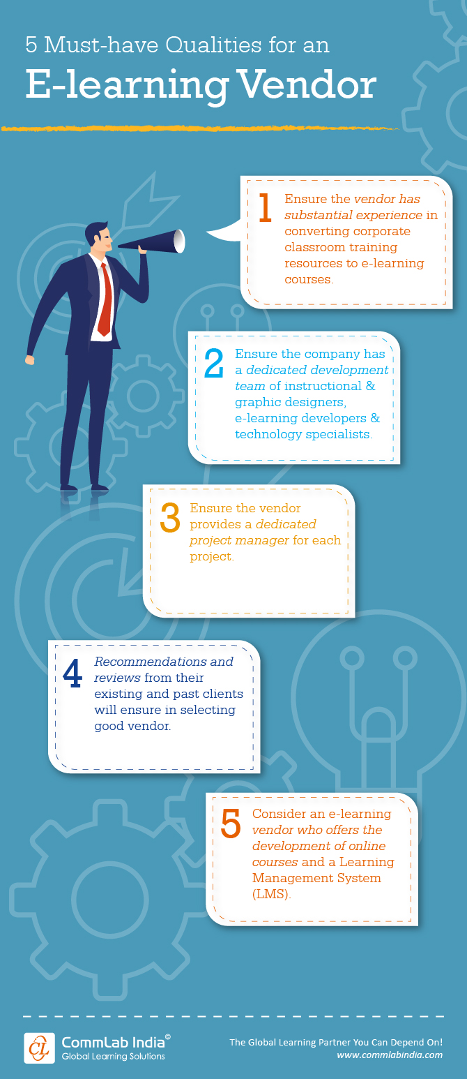 5 Must have Qualities of an E-learning Vendor [Infographic]