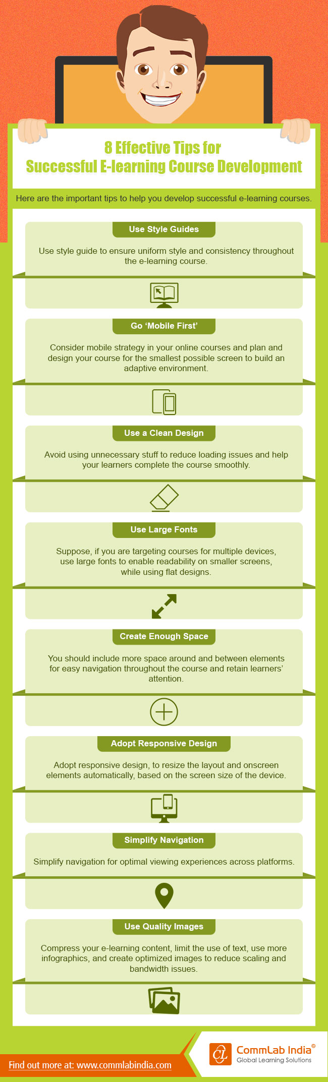 8 Effective Tips for Successful E-learning Course Development [Infographic]