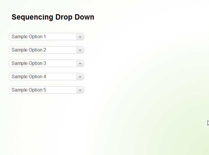 Sequencing Drop Down