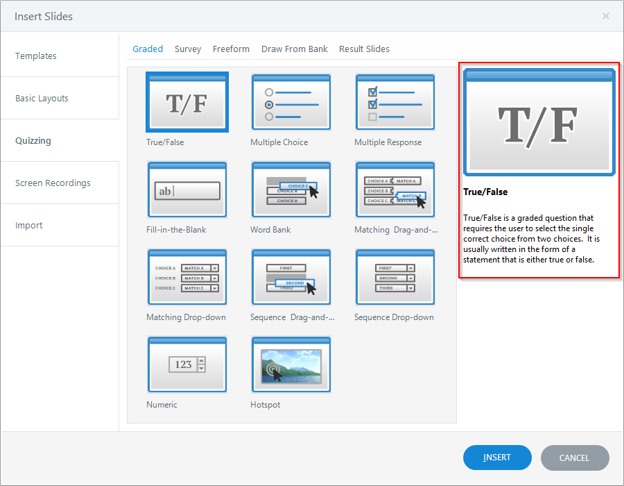 Articulate Storyline_True OR False